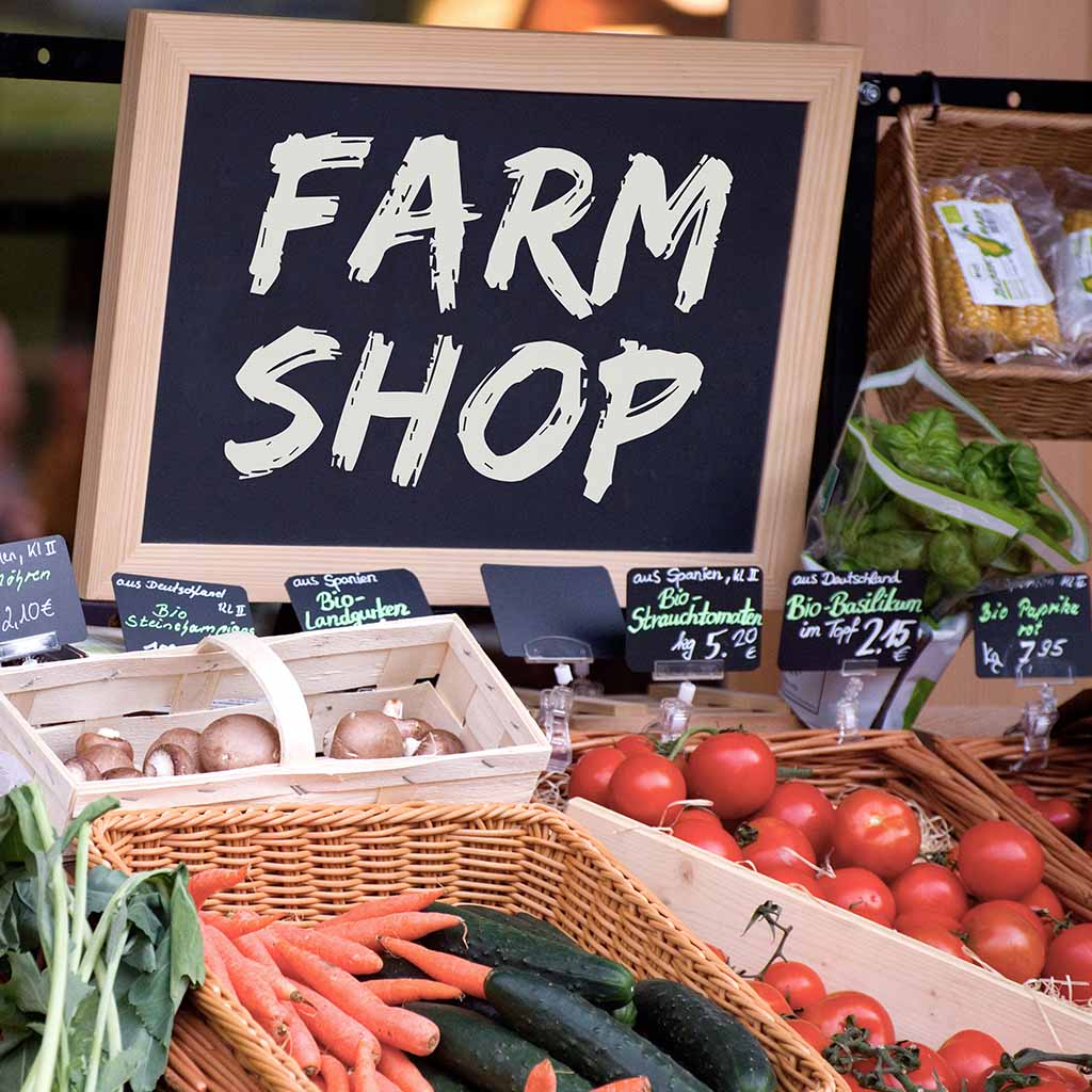 Shop locally for organic products